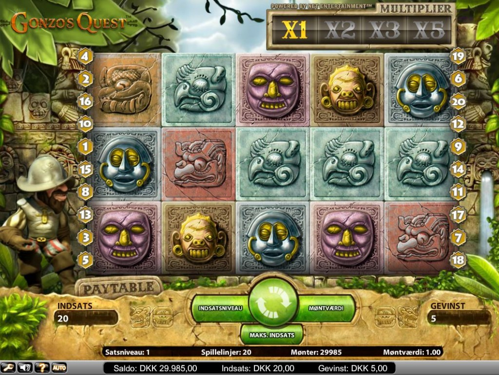Gonzo's Quest spilleautomaten